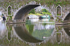 Graiguenamanagh (adamsgc1) Tags: bridge graiguenamanagh reflection water ireland boats ducks green birds