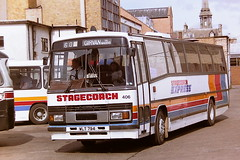 STAGECOACH WESTERN SCOTTISH 406 WLT794 TSD156Y (bobbyblack51) Tags: stagecoach western scottish 406 wlt794 tsd156y dennis dorchester plaxton paramount 3200 ayr bus station 1995 all types of transport