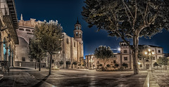Plaza Mayor de Baza, Granada; Espaa (Sergio Snchez Prez) Tags: sergio sanchez perez baza granada espaa plaza mayor iglesia colegiata nocturna night luces