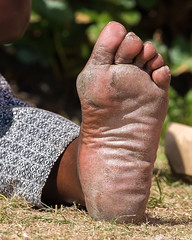 DSCF9327.jpg (taureal) Tags: female barefoot soles candid dirtyfeet feet