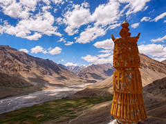 Faith and Mountains (ZeePack) Tags: sky landscape mountains river light clouds view shadows fields monastery hills vista religious cultivation gompa 5dmarkiii lahaulandspiti canon india himachalpradesh buddhist key ki outdoor