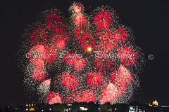St. Mary Fireworks - Qrendi - Malta. (Pittur001) Tags: st mary fireworks qrendi malta taken kilometres far away cannon 60d charlescachiaphotography charles cachia photography pyrotechnics colours festival feast wonderfull red excellent reward village