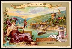 Liebig Tradecard S557 - The River Rhine (cigcardpix) Tags: tradecards advertising ephemera vintage liebig chromo