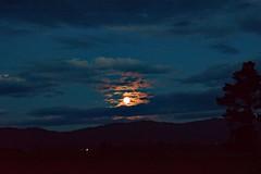 Blue Moon (Gadgetman@Nikon) Tags: elements kapuacanterburynewzealand fullmoon moon bluemoon blue whiteglow sky skychasers todaysflickr meechin nikon nikond3300 fire orangesky