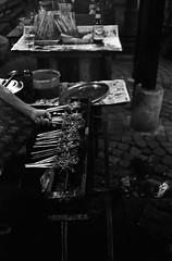 Hungry () (Purple Field) Tags: leica m3 rangefinder minilux summarit 40mm f24 fuji iso400 neopan presto bw monochrome film analog 35mm jakarta indonesia street alley walking still