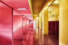 Milano (Federico Verani) Tags: milano milan italia italy architecture architetture aldorossi carloaymonio gallaratese architects city citt spazio space design rosso red giallo yellow house