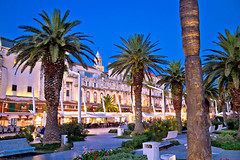 Split (Voyages Lambert) Tags: mediterraneancountries tourism splitcroatia adriaticsea coastline dusk stonematerial dalmatian yachting scenics waterfront history journey multicolored blue ancient architecture vacations outdoors panoramic sailing tourist croatia rivadeglischiavoni europe palmtree night rockobject sea cathedral church street palace harbor urbanskyline cityscape city town nauticalvessel diocletian marjan