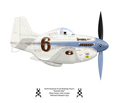 Sumthin Else (blackheartart) Tags: art aricraft airplane aviation caricature mustang sumthinelse reno airracing 1979 nationalchampion johncrocker race6 p51 northamerican