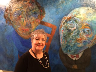 Artist Sonia Martin at her opening at the Coral Gables Museum