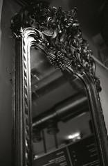 Mirror (Trixi Skywalker) Tags: black white canon av1 kodak tmax400 trix 400 stockholm sweden sverige 50mm 18 mirror decor decoration decorative camera analog analogue