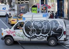 Mobile streetart (snej1972) Tags: privat newyork usa city sebastianwalleit sebastian holiday vacation manhattan bus stadtrundfahrt metropolitanmuseum museum harlem upperwestside