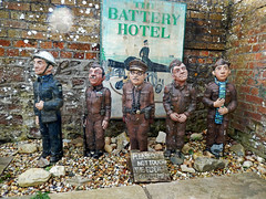 Dad's Army in a pub garden on the Isle Of Wight (TietjenUK) Tags: dadsarmy pub publichouse soldiers model isleofwight iow thebatteryhotel