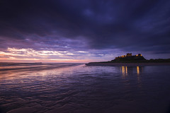 The Silence of Dawn (Tracey Whitefoot) Tags: tracey whitefoto 2016 northumberland coast coastal bamburgh castle dawn morning sunrise beach deserted empty england north east