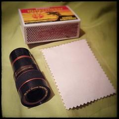 Yay! Cheap Gear. (burgerno) Tags: dxcom toy lens fun funsize useless gadget telephoto tele snapseed matches matchbox cloth lgh815 lgg4