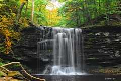 Harrison Wright Falls in Ricketts Glen State Park in Pennsylvania (goodhike) Tags: ricketts glen state park rickettsglen rickettsglenstatepark pa pennsylvania falls waterfalls waterfall autumn nature outdoor landscape
