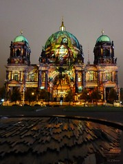 Festival of Lights  - Berliner Dom (5) (Ellenore56) Tags: 13102016 berlin festivaloflights lichtshow berlinerdom illumination illuminate illumine illuminated lichtstrahl ray kunst art kreation creation lichtkunst lightart spektakulr viewy spectacular lichtzauber magicoflight oktober stadt city detail moment augenblick sichtweise perception perspektive perspective reflektion reflection reflextion farbe color colour licht light inspiration imagination faszination magic magical panasonicdmctz61 ellenore56 berlinbeinacht berlinatnight gebude bauwerk building angestrahlt floodlit floodlights stimmung mood atmosphere sentiment abendlicht sunsetlight luce lume lumire textur texture