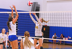 IMG_5479 (SJH Foto) Tags: girls volleyball high school lancaster mennonite pa pennsylvania team tween teen teenager varsity net battle spike block action shot jump midair