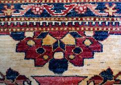Oriental carpet - color and comfort underfoot (Monceau) Tags: oriental carpet burgundy royal blue cream beige wool design comfort