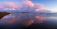 After glow (lloydich) Tags: brighton sussex sea pier palace clouds pink sky beautiful beach