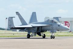 Rhino Demo getting ready to perform for the Waco Airshow (thetford569) Tags: 6kuss 168928 aircraftmilitary airshow code fa18hornet fa18fsuperhornet fighter kcnw locations nj nj156 navy operator specialpaint squadronunitbase type unitedstatesofamerica vfa122