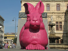 The Drer Hare (vintage vix - Everything is a miracle) Tags: vienna wien hare drer sculpture art kunst