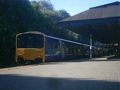 150147 @ Atherton (ianjpoole) Tags: northern rail 150147 150146 working 2f15 manchester victoria kirkby