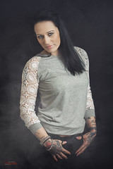 (yvind Bjerkholt (Thanks for 31,8 million+ views)) Tags: tattooed woman girl female she sexy rough fashion style beautiful gorgeous ink studio canon 50mm portrait arendal norway