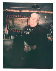 Ray at The Missouri Lounge (2812 photography) Tags: polaroidlandcamera california portrait haveadrink peterrosos utata:entry=4 utata:project=godrinking fujifimfp100c eastbay instantfilm localbar negativereclamation film analog
