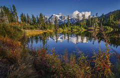 Mount Shuksan Reflection at Picture Lake (dwolters2) Tags: washington northcascades mountians