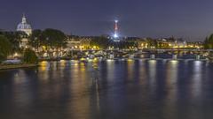 River Seine at Night (Jack Heald) Tags: seine laseine ledelacit iledefrance paris france river eiffeltower pontdesarts pontneuf night lights travel tourist heald jack nikon
