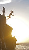 Syd jumps yellow sunset (mikemartin1967) Tags: mackenzie sonycamera waimeabay