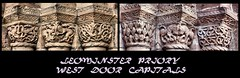 Romanesque (tina negus) Tags: leominster priory west door capitals herefordshireschool carving romanesque c12
