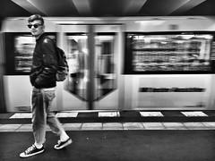 Ubahn Berlin (Michael Russian) Tags: train undergroud black blackwhithe be europe berlin ubahn iphone