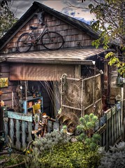 Finn Slough (G. Monk) Tags: cottage vancouver delta bc britishcolumbia finnslough building home house garden bike bicycle