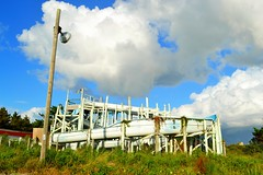abandoned waterslide (ekelly80) Tags: northcarolina september2016 outerbanks obx drive roadtrip roadside abandoned abandonedusa park waterslide slide finds