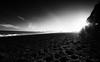 Reynisdrangar II (-- Q --) Tags: reynisdrangar iceland blackbeach vik reynisfjall myrdal atmosphere qthompson lee09softgrad marumidhgcpl blackandwhite seastacks