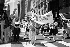 DR2-011-4 (David Swift Photography Thanks for 18 million view) Tags: davidswiftphotography philadelphia protest protestmarches cleanenergy signs streetphotography demonstrations 35mm film ilfordxp2 olympusstylusepic