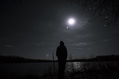 Partner in Crime (jayjay.and.the.wolf) Tags: silhouette lightanddark person moon stars