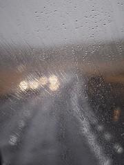 Icelandic Rain (Feldore) Tags: rain raindrops window car windscreen iceland icelandic road lines minimal feldore mchugh em1 olympus 35100mm panasonic weather