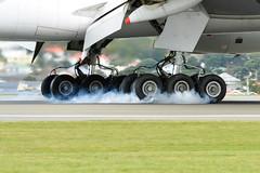 Touchdown! (NZ Aviation Photography) Tags: boeing 777 wellingtonairport airplane aeroplane singaporeairlines landing nz newzealand nikon d3200 aviationphotography aviation boeing777 planespotting plane