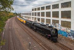 Trekking Through Tower Grove (Jake Branson) Tags: train railroad steam union pacific up 844 northern fef3 484 mo missouri st saint louis