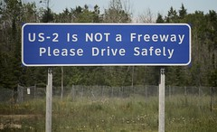 US-2 is a dessert topping. (jcburns) Tags: signs clearviewhighway upperpeninsula