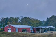 291/366 - 7am Supermoon (Ravi_Shah) Tags: shed farm fullmoon sony a6000 moon potd cy365