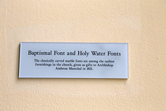 Baptismal Font and Holy Water Fonts Description (Jim, the Photographer) Tags: catholic cathedral roman basilica baltimore assumption bvm