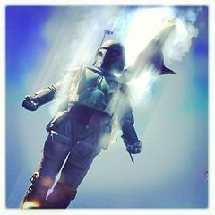 122/366 Fett sticks the landing! (8 Skeins of Danger) Tags: square starwars squareformat bobafett sideshow bountyhunter 8skeinsofdanger iphoneography instagramapp xproii uploaded:by=instagram