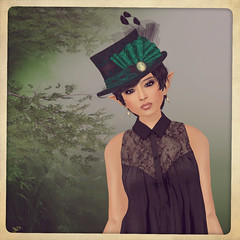 Of Hats and Pins (Jenica Landar) Tags: secondlife dura glitterati hatpins slink adamneve poeticcolors tresblah sixtylindenweekend mockcosmetics