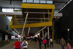 London_2012_ExCel_Crowds_Departing_R4714 (Firing Canon) Tags: london sign logo signage exit spectators crowds 2012 excel paralympics london2012 livery paralympic paralympicgames locog competitionvenue paralympicagitos