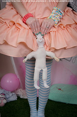 Candy Dream Prom Party (gloomth) Tags: pink party cute bunny stockings vintage balloons toy dress room prom octopus dolly striped frilly pompom nighties negligee peignoirs gloomth