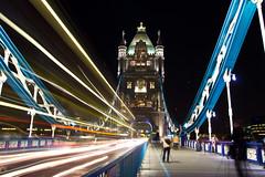 Tower bridge (ncs1984) Tags: longexposure bridge light london tower night towerbridge dusk trail lighttrail