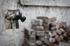Handle It (phoebird) Tags: red texture handle grey near bricks it faucet far 2013 phoebird utata:project=ip173